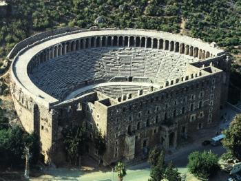 Aspendos Tiyatrosu Panorama